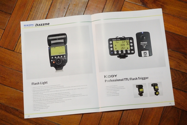 Rikon's product catalogue has few further insights as to the final specifications of the Dazzne Flash Light