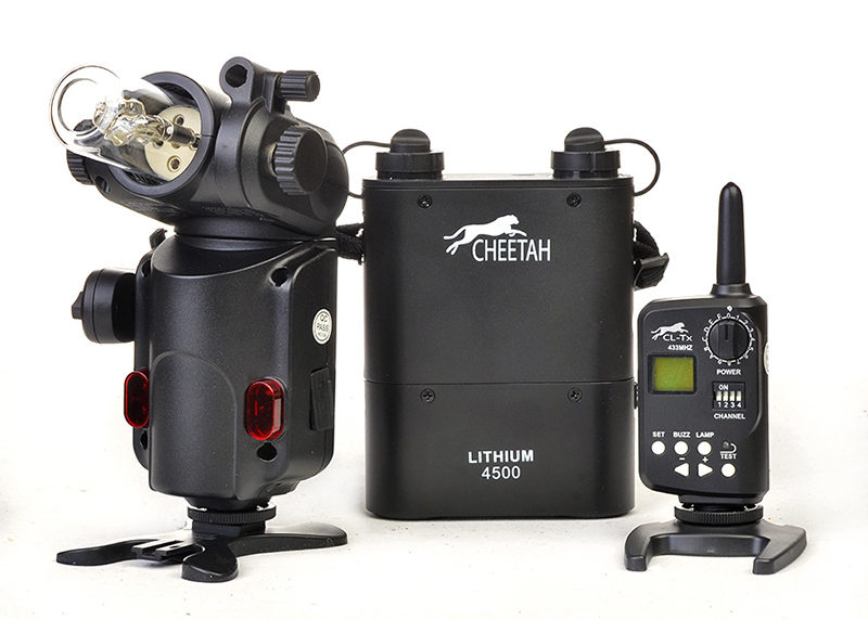 Cheetah CL-180, lithium battery pack and transmitter