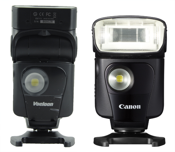 Voeloon 331EX compared with Canon 320EX
