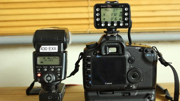 Rikon Dazzne Kody TTL used with a Canon EOS 5D Mark II and Speedlite 430EX II