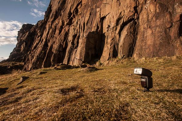 Calumet Genesis Speedlight SP692n setup shot, Salisbury Crags, Edinburgh