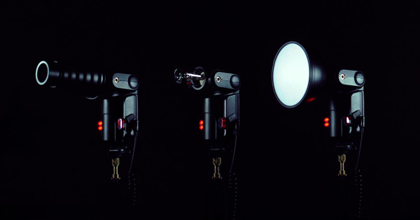 Cheetal Light CL-180 with snoot, bare and with standard reflector