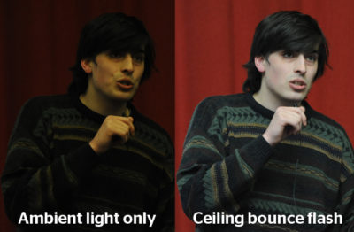 Comparison of scene with and without light from Cheetah Light