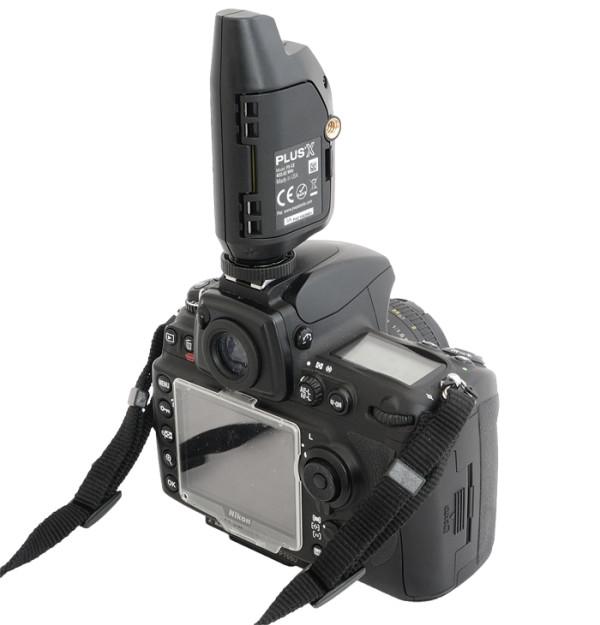 PocketWizard PlusX mounted on camera
