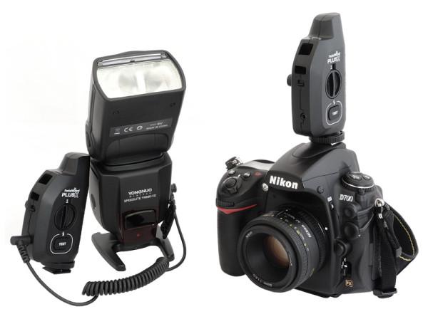 PocketWizard PlusX with flash and camera