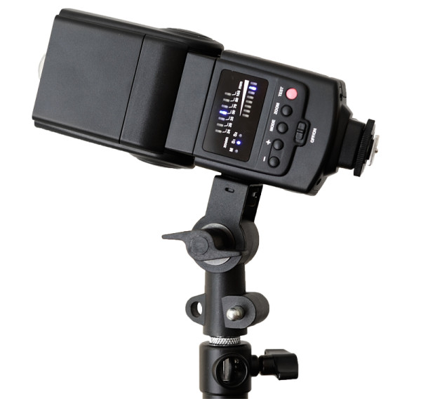 Godox Thinklite TT660 mounted on a stand