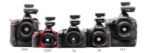 New cameras using PocketWizard ControlTL radios