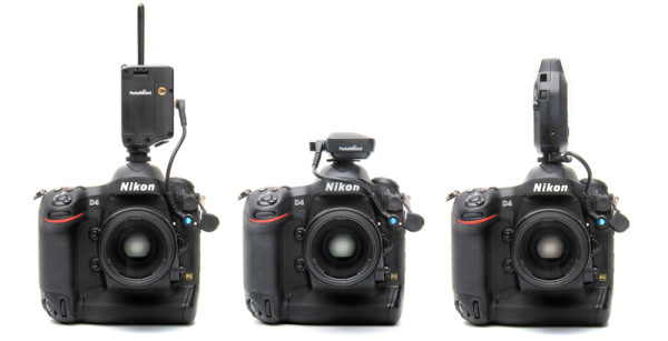 PW-DC-N10 powering a PocketWizard MultiMAX, MiniTT1 and Plus III from a Nikon D4