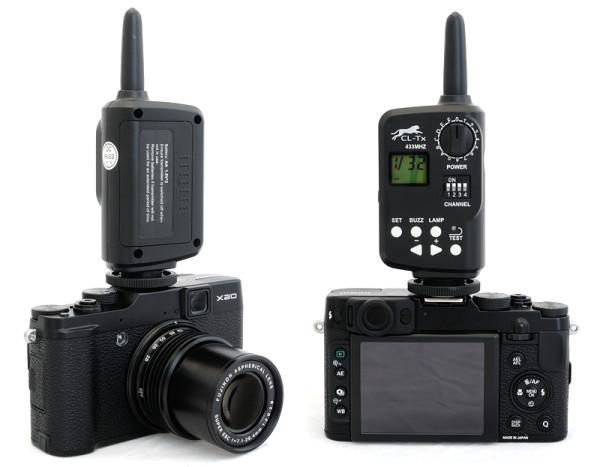 Fujifilm X20 with FT-16 flash trigger