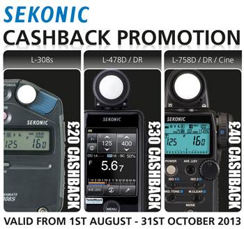 Sekonic 2013 summer cashback