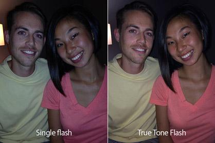 iPhone 5S True Tone flash comparison
