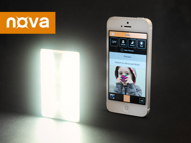 Nova external LED flash for iPhone