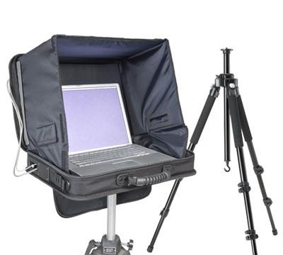 i-Visor LS Pro Mag laptop case and Studio Assets tripod