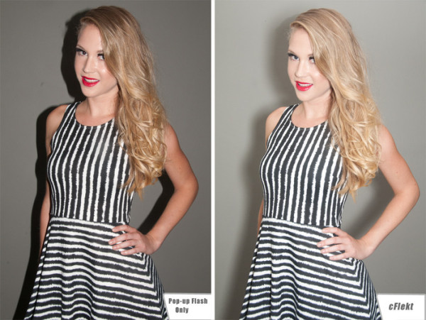 Before and after Flekt Image