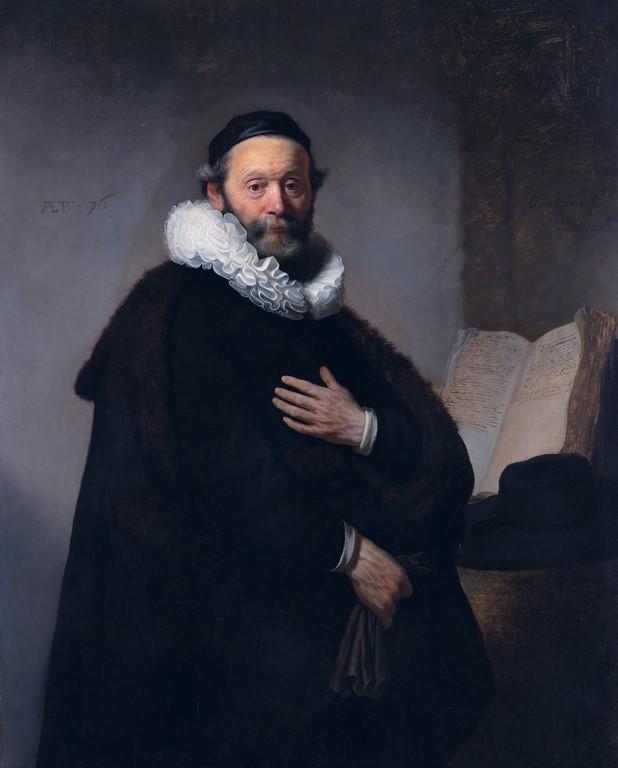 Johannes Wtenbogaert (1633) by Rembrandt van Rijn