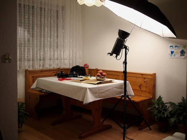 Simock E300 umbrella setup