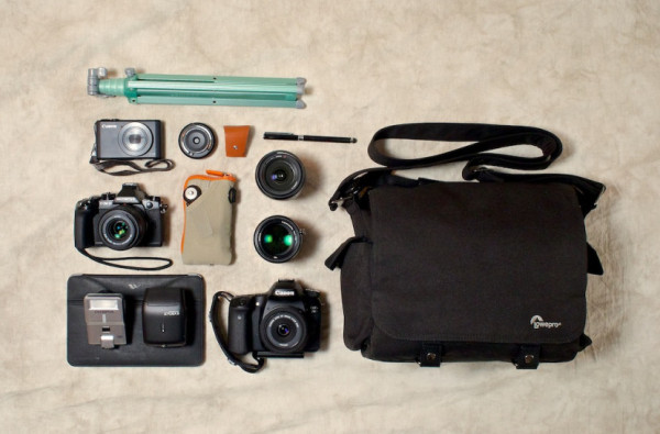 "In the bag of ""nimble photographer"" Derrick Story"