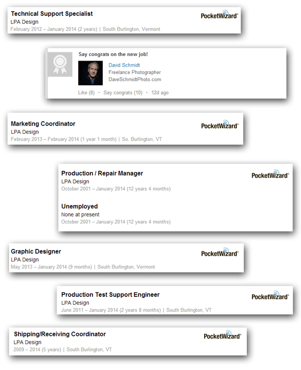 LinkedIn screenshot: LPA staff
