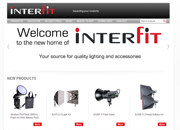 Interfit Photographic web site 2014
