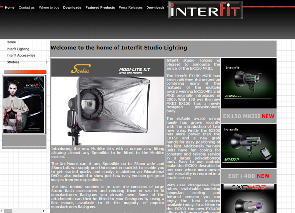 Old Interfit web site