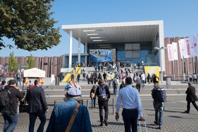 The main entrance of the Photokina 2014, the weather was perfect for spending a whole day inside