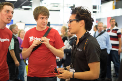 Multiple known photographers could be spotted, here is Benjamin von Wong talking with the people from Triggertrap