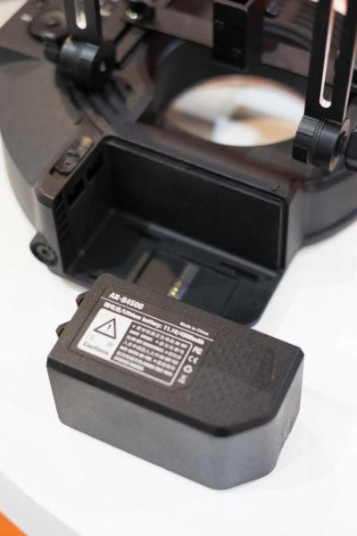 It features an internal battery pack