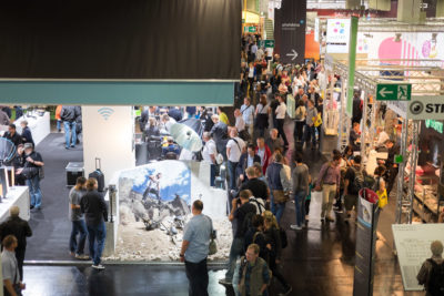 Even on a weekday, there were a lot of people looking at the various booths