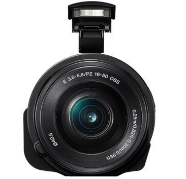 Sony QX1 pop-up flash