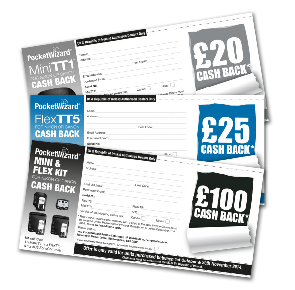PocketWizard UK cashback