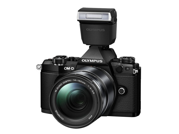Olympus OM-D E-M5 Mark II with FL-LM3