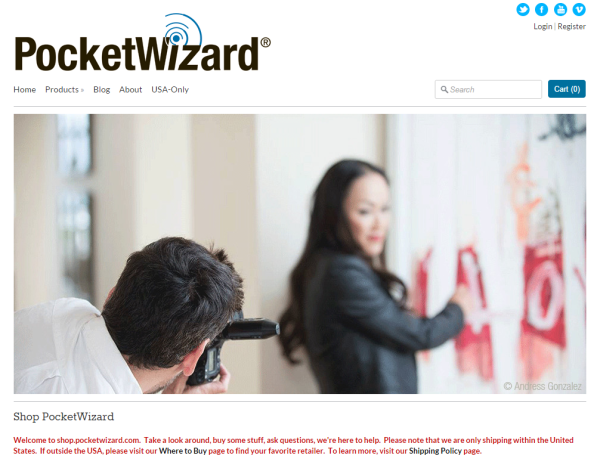 PocketWizard Shop
