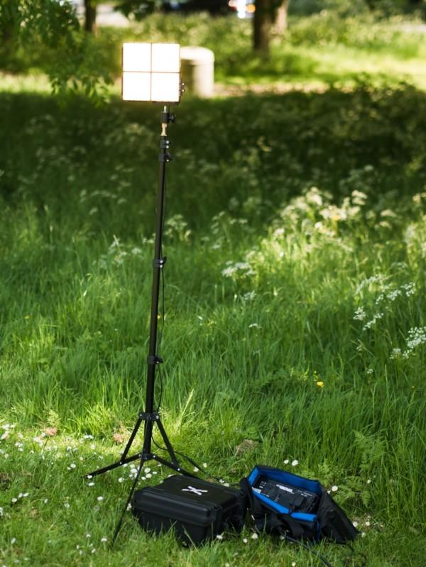 Exalux Brik outdoors, powered via Tronix Explorer Mini