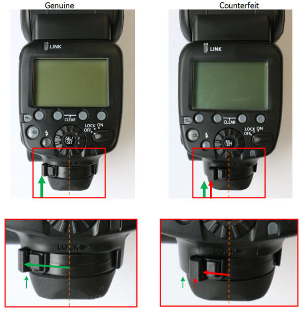 Counterfeit Canon Speedlite 600EX-RT