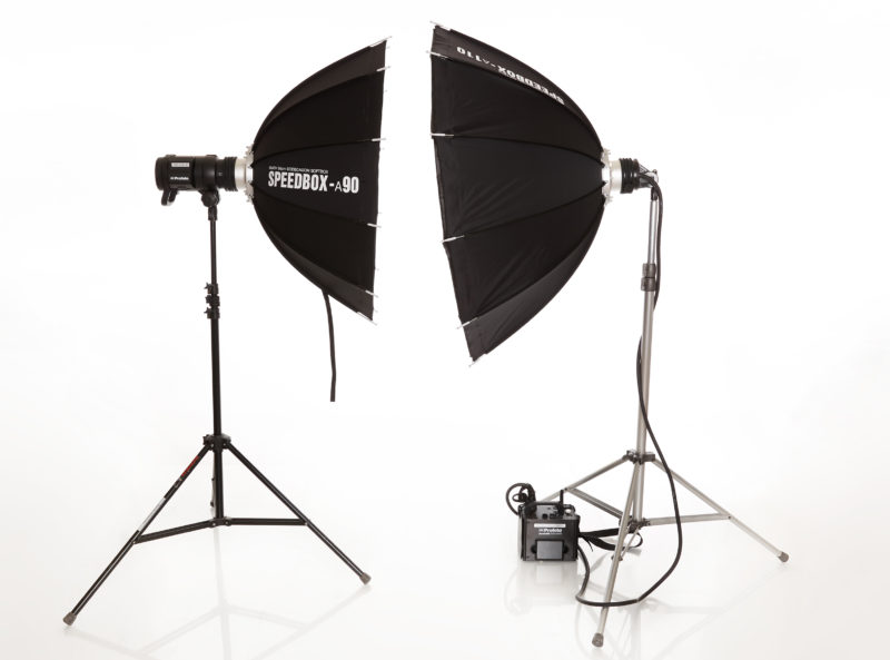 SMDV Alpha Speedbox with speedring adapters for Profoto, Bowens, Elinchrom, and Balcar.