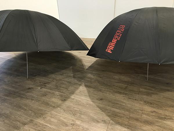 The 165cm Parabrolly in comparison to a regular 150cm umbrella