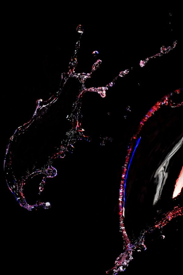 Water splashes, lit with the Strobius StrobiStrip. Picture: Michael Sewell