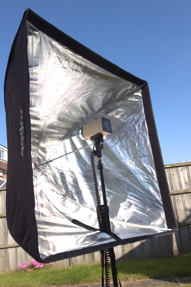 Mcoplus MT-300 in a brolly box