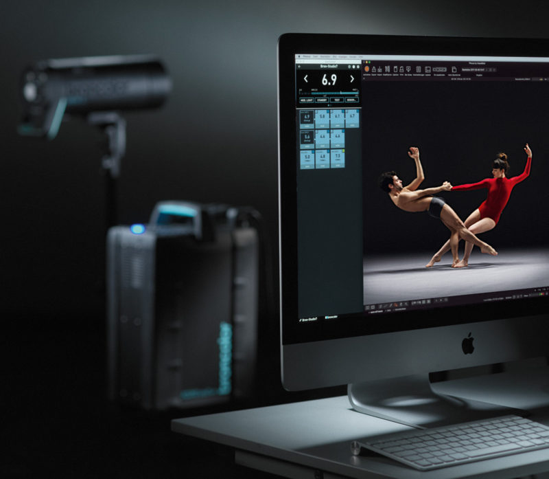 Broncolor Scoro WiFi controlled from BronControl Desktop
