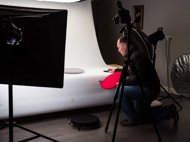 Behind the scenes: product shoot
