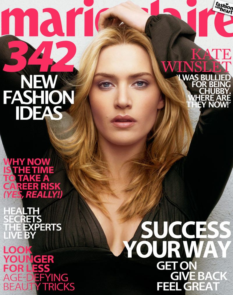 Kate Winslet cover shoot, with a Broncolor Para 330, New York, 2006.