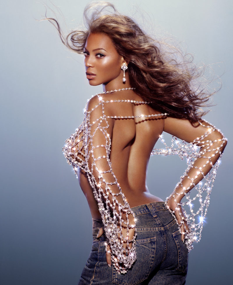 Beyoncé album cover shoot in New York, 2003, with Broncolor Flooter S.