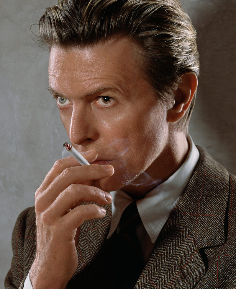 David Bowie, album cover shoot for Heathen, New York, 2001. Broncolor Flooter S.