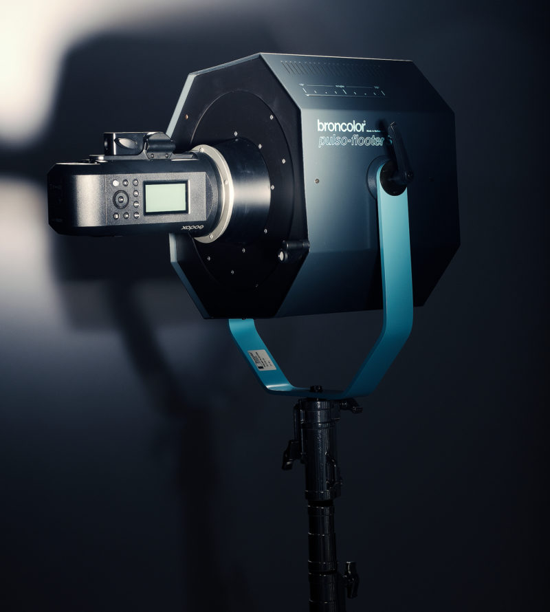 Godox Witstro AD600Pro with Broncolor Flooter