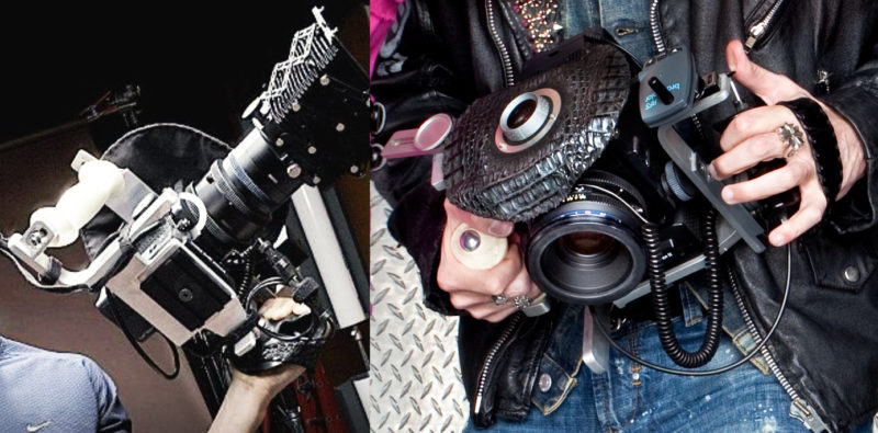 In late 2003, I designed several custom dual hand grip and 10x viewfinders for my Fujifilm GX680III and Mamiya RZ67 cameras. Adapting heavy film cameras for handheld shooting with digital backs was a challenge, but served me well for nearly 10 years.