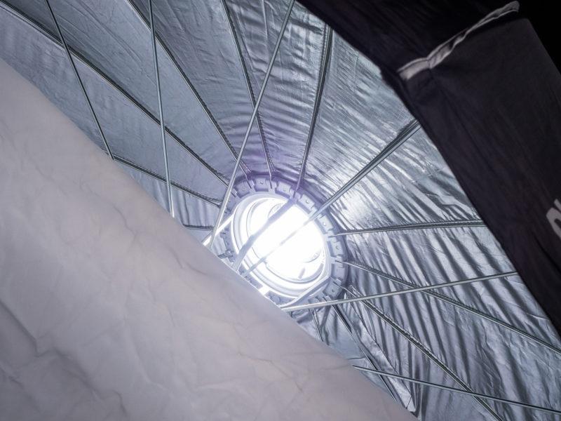 Interior of the Phottix Raja 150cm Hexabox