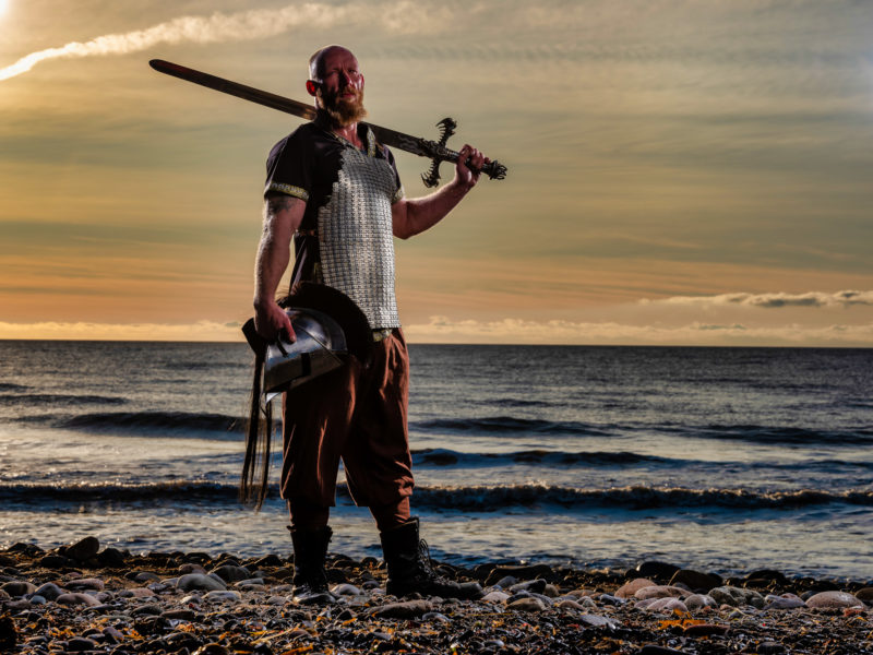 Viking, lit with Phottix Raja 150cm Hexabox
