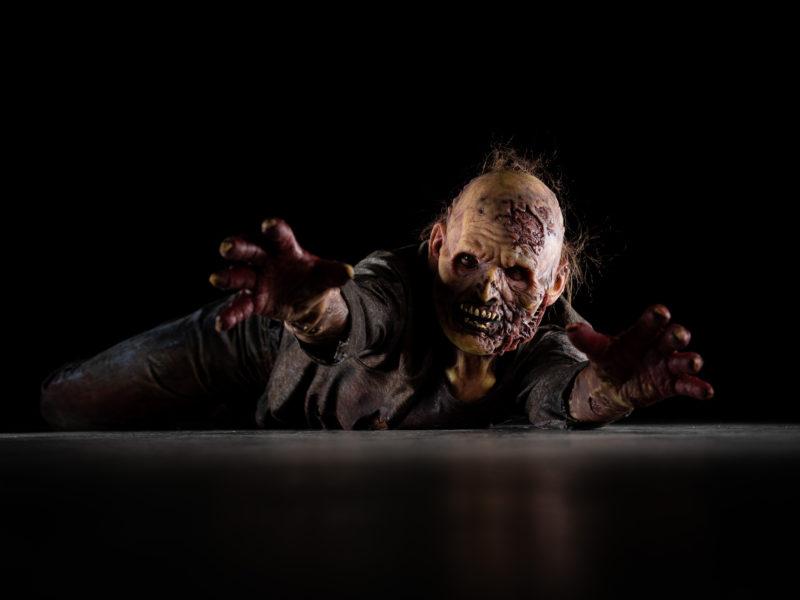 Zombie low-key lighting