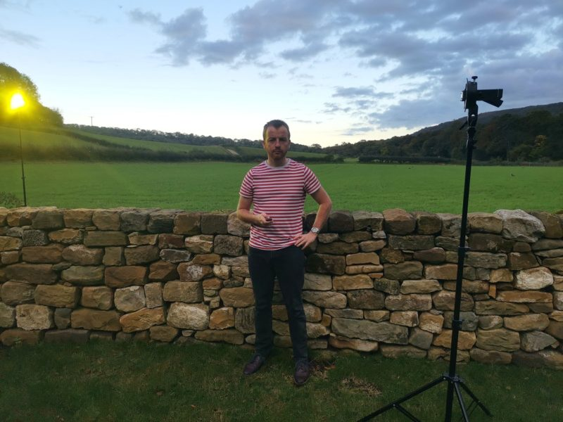 Setup for outdoor self-portrait with Innovatronix CPFlash
