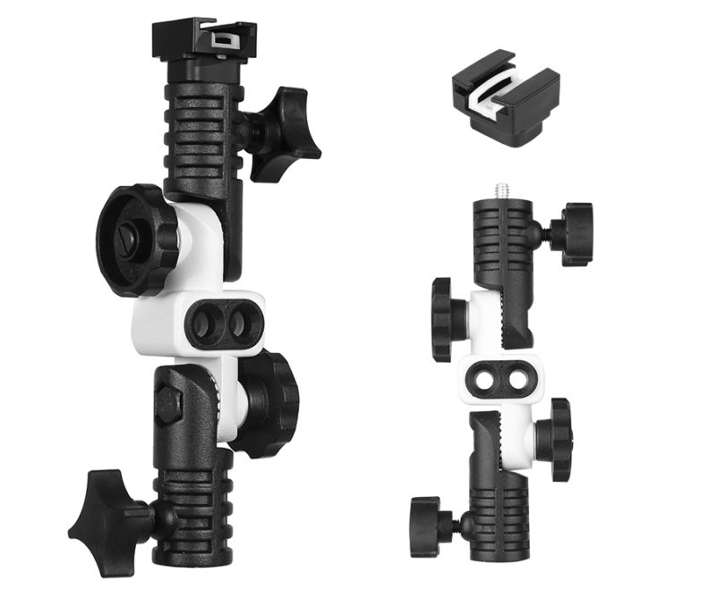 Double umbrella flash bracket